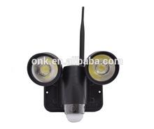 2014 new product pir wifi wireless allintitle network camera networkcamera with 12watt light