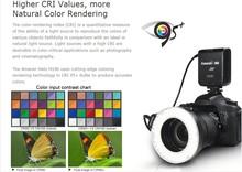Camera ring flash led light macro ring flash with 100pcs led