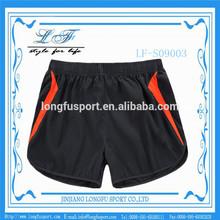 Polyester dry fit gym shorts men OEM black shorts beachwear