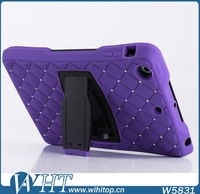 Starry Glitter Silicone PC Hybrid Case for iPad Mini / Mini 2 Stand Functional