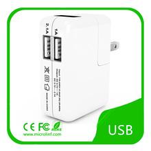 2014 high quality US plug 5V 3.1A 2 port dual usb wall charger