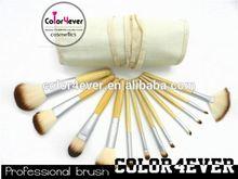 Eco-friendly wholesale china makeup brush supplier bamboo handle 12pcs makeup tool kit brush powder