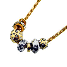 lariat necklace / yellow gold diamond necklace
