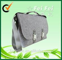 Grey big felt school bag for student