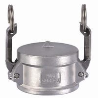 Type DC stainless steel camlock fitting ,s s muff coupling