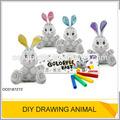 2014 neueste heiße spielzeug diy spielzeug diy zeichnung spielzeug zeichnung kaninchen