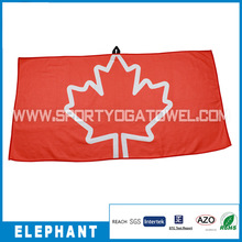 customized logo waffle towel golf seed clubs