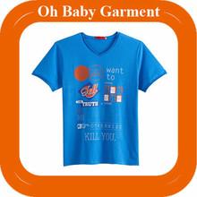 2014 latest style screen print t shirt wholesale/ t shirt online shopping/ print fabric