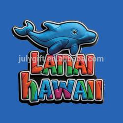 custom soft pvc fridge magnet with hawaii fish