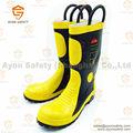 Combate a incêndios bombeiro botas com não corrosivo de aço inoxidável dentro - Ayonsafety