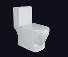 ceramic siphon s-trap one piece toilet