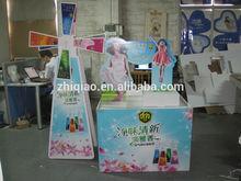 paper floor display for supermarket promotion
