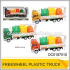 Freewheel plastic construction truck toy with sound & light OC0187510