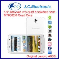 "Original Lenovo A850 A850i MTK6582m Quad Core 1GB RAM 4GB ROM A850+ phone 5.5""QHD IPS screen"