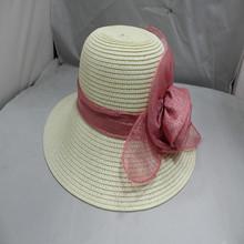 new design white ladies summer straw hat