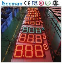ip43 led clock temperature message display digital wall clock led display led digital signboard board