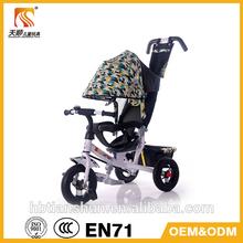 Metal steel Material Kid tricycle by man power or push ---Tianshun TS-5182
