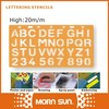 20m/m lettering stencil alphabet spray