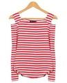 Las mujeres de la marca de ropa, slim fit americano ropa t camisa