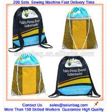 190T reusable customized drawstring mesh bag for travelling
