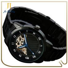 Lastest design fashion hollow watch men automatic mechanical watch guangzhou watches