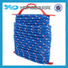 9.5mm PP braided package rope , 16 strand Blue with red fleck pp braided rope