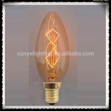 Retro Antique Globe Light Bulb E27/E26/B22 black murano glass chandelier CE ROHS