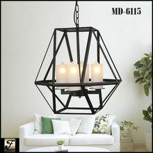 Flose MD-6115-4 antique iron polyhedron metal frame chandeliers&pendant lights, jason black chandelier,vintage industrial lamp