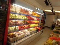 refrigerated display stand for fresh fruits and vegs