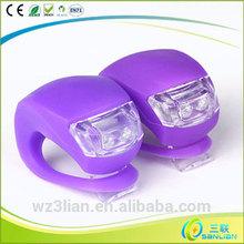 Wholesale cute silicone rubber mini wireless flashing led light for bike