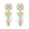 Fine custome jewelry wholesale diamond earrings big pearl earrings