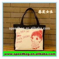 Fashion promotional canvas eco green friendly reusable tote bag eco bag