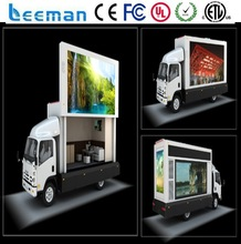 electronic led programmable sign display board truck mounted message board Leeman P10 mobile led screen truck
