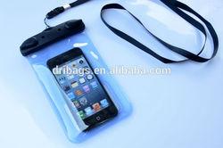 Wholesale price orange pvc Waterproof Bag with headphone set non-phthalate