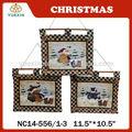 Hechas a mano del árbol de navidad decoración, chrisrmas adorno colgante con la impresión