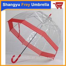 Clear umbrella/transparent umbrella/PVC dome umbrella