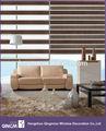 de moda 2014 aspecto de madera de las persianas de doble capa de la cortina de la ventana de cebra persianas de rodillo hecho en china