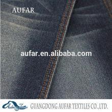 Aufar denim cotton fabric latest design high quality denim wash fashion women jeans 9.1oz