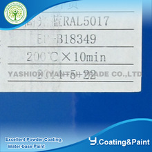 hot sale RAL 5005 blue color epoxy and polyester resin paint electrostatic powder coating