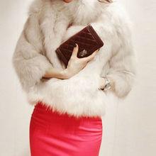 Ladies Faux Fur Outwear Jacket Overcoat winter natural mink fur coat women SV005837