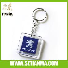 Acrylic key chain with car logo for souvenir