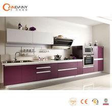 Caliente venta MDF gabinetes de la cocina, De acero inoxidable de la cocina