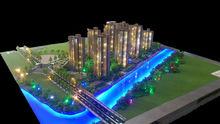 real estate model making / 1/200 scale residential building model