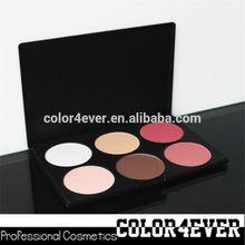 Gold supplier!Wholesale makeup 6colours blusher contour palette powder foundation