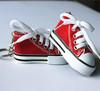 personalized promotional 3D mini online canvas shoes keyrings