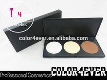 Gold supplier Pro 3 Colors Contour foundation Powder makeup Palette Set Pressed Powder Foundation