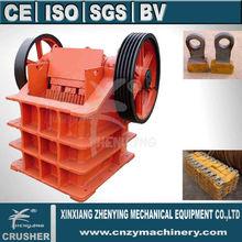 Manufacturer PE tyre jaw crusher machine