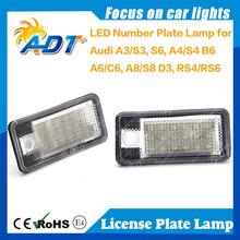 Fast shipping car Xenon white 6000K 6500K LED number plate lamp for Audi Q7 2007 - 09 license plate light