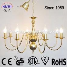 2014 New developed Golden Chromed Modern Chandelier lighting for lobby NS-120222