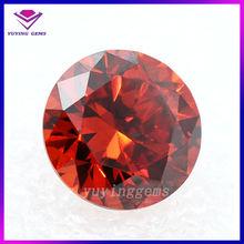 Hot sale 4mm round bulk cut orange loose small gemstone for sale
